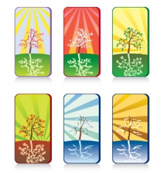 trees seasons vector image