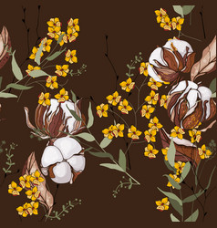 vintage background blooming realistic isolated vector image