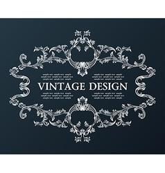 Vintage royal old frame ornament decor black vector