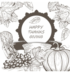 Vintage Thanksgiving Day Card vector