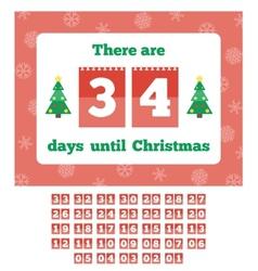 Waiting for Christmas calendar vector