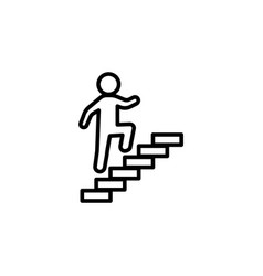 walk up stairs symbol line vector image
