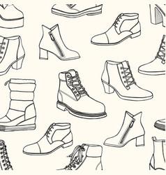 women seamless pattern vector image