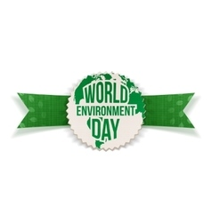 World Environment Day Banner and Ribbon vector image