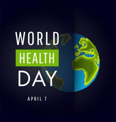 World health day concept vector