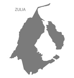 Zulia venezuela map grey vector