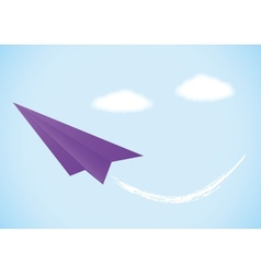 Colorful paper airplane vector image vector image