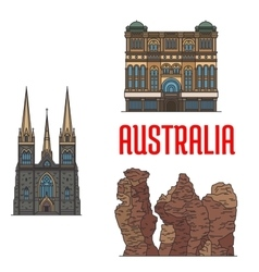 Historic architecture and sightseings of Australia vector image vector image