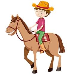 Man riding horse alone vector image