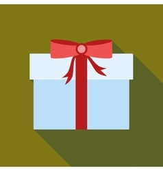 Thanksgiving gift box icon flat style vector image