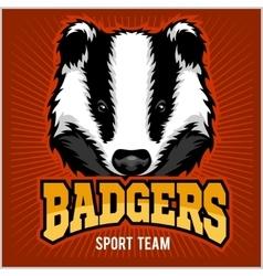 Badger sport team logo vector