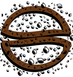Black background coffee vector image vector image