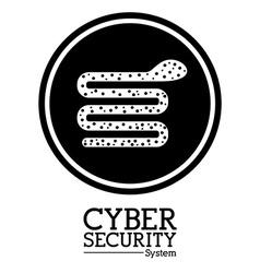 Cyber security digital design vector image vector image