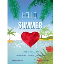 Summer beach background vector image vector image