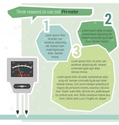 Three reasons use PH meter vector image vector image