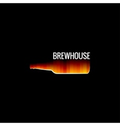 beer glass fire design background vector image vector image