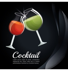 menu cocktails list bar vector image