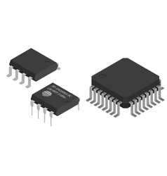 Microchips Electronic components vector image