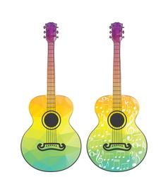 Polygonal Guitar2 vector image vector image