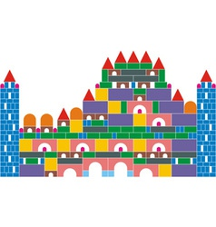 The castle of colored cubes vector image vector image