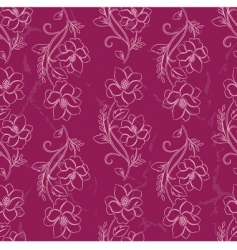 vector seamless a flower background vector image vector image