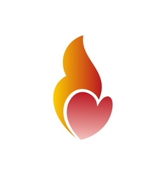 Heart-On-Fire-380x400 vector image