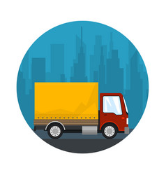 Icon shipping and freight of goods vector