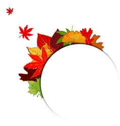 Thanksgiving Colorful Autumn Leaf Background vector image vector image