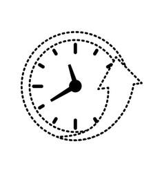 wall clock sticker vector image