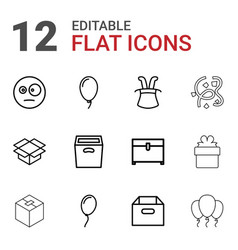 12 surprise icons vector image