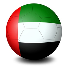 A ball with the UAE flag vector