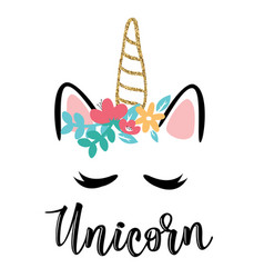 A magic cute unicorn vector
