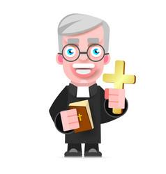 A priest icon flat design cartoon vector