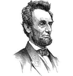 Abraham lincoln sketch vector