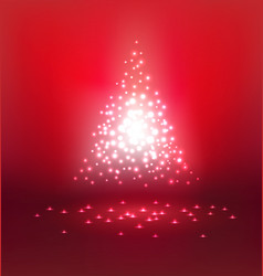 abstract magic light on red background vector image
