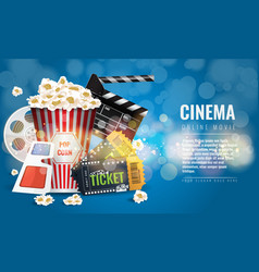 ad layout template for the film industry elements vector image