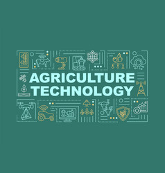 Agriculture machinery word concepts banner vector