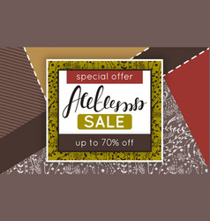 autumn sale discount in fall collage vector image