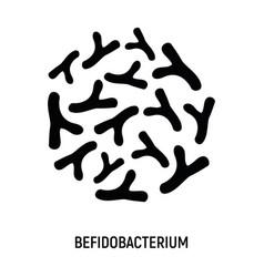 bifidobacterium icon probiotic concept logo vector image