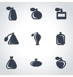 black perfume icon set vector image
