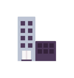 building icon town vector image