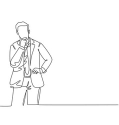 business ideas concept one single line drawing of vector image