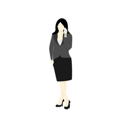 Businesswoman phone calling people vector