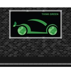 Car advertising board vector image