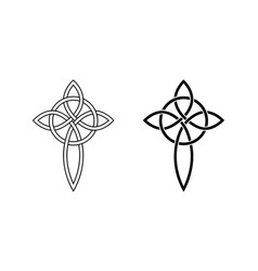celtic cross knot and circle gorgeous pendant vector image