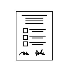 Checklist form sheet vector