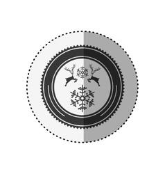 Christmas tag ornament vector image