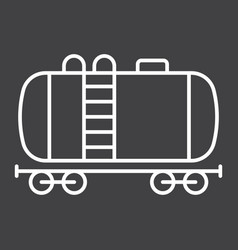 Cistern oil train line icon logistic and delivery vector