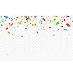 colorful confetti celebration carnival falling vector image