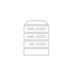 computer server flat icon vector image